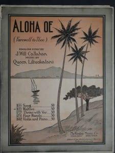 Aloha Oe, 1916.