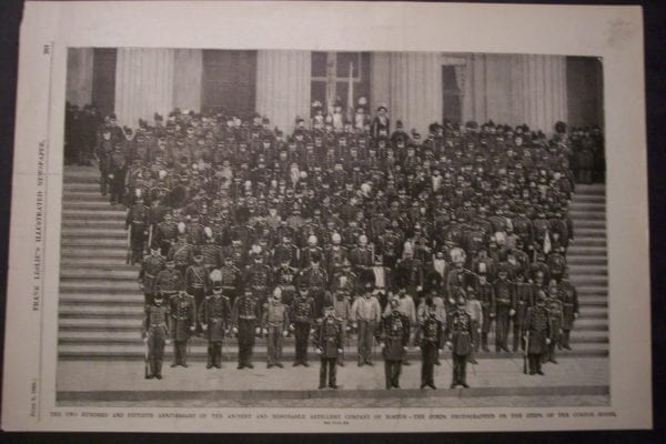 250th Anniversary of the Ancient and Honorable Artillery Company of Boston, June 9, 1888. $30.