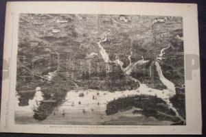 Bird's Eye View of Boston and it's Environs, June 22, 1872. $85.