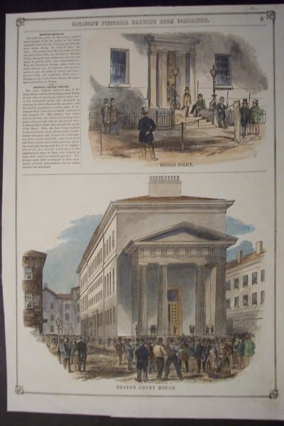 Boston Police and Court House, c.1855. $50.
