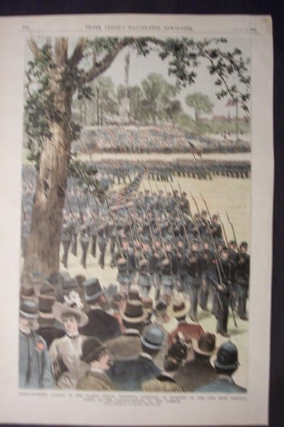 Parade of the Boston School Regiment, Composed of Members of the City High Schools, June 2, 1888. $60.