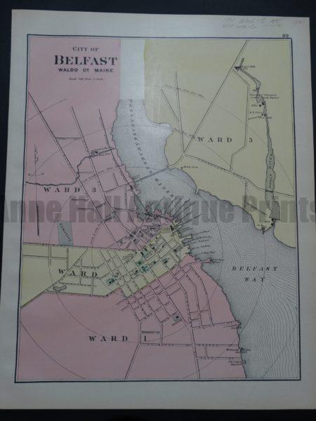 City of Belfast, Waldo Co Maine