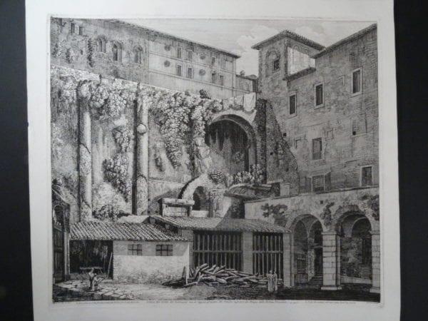 Cortile de Seminario, Roma 1826