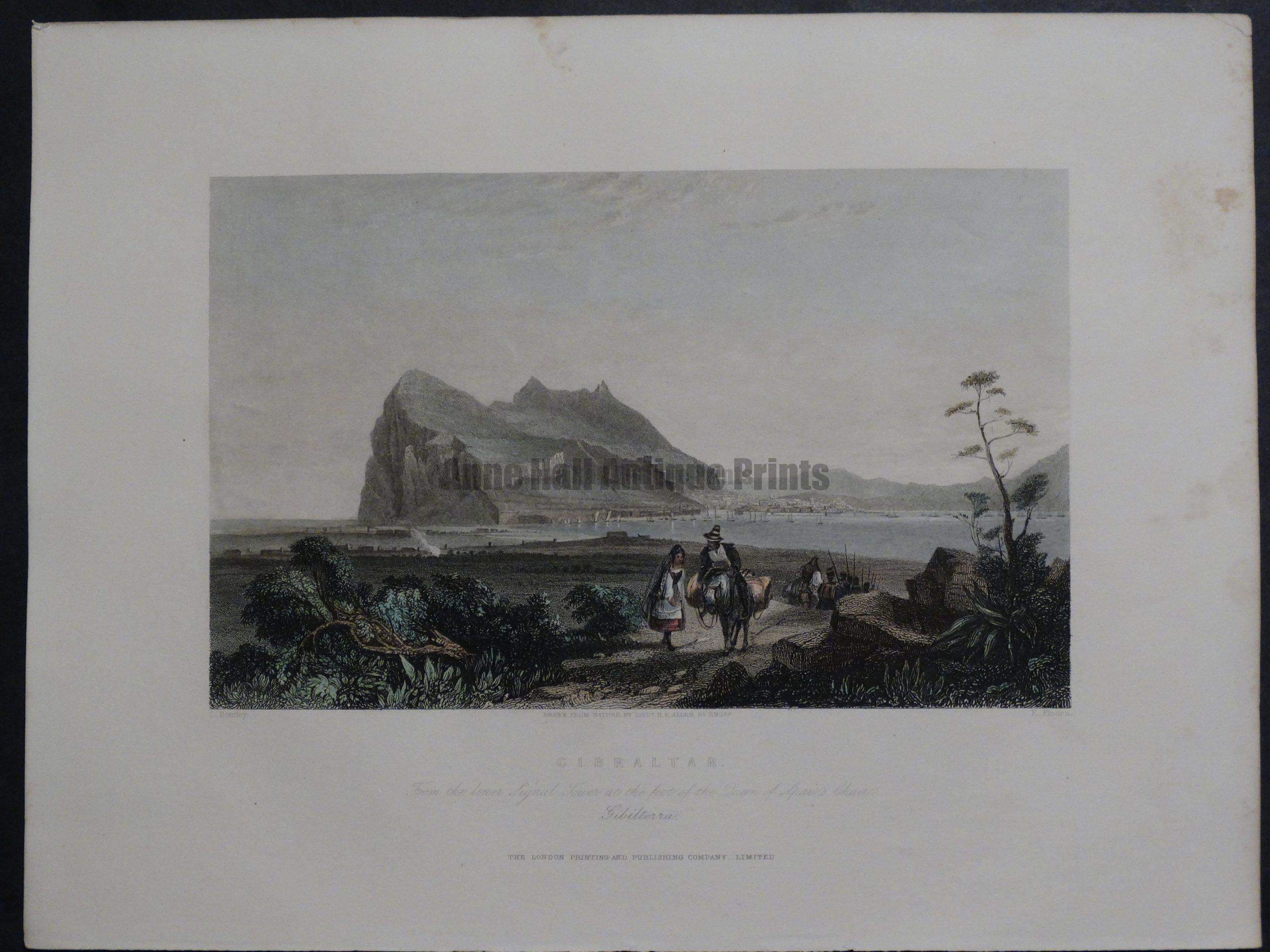 Gibraltar 1855. $135.