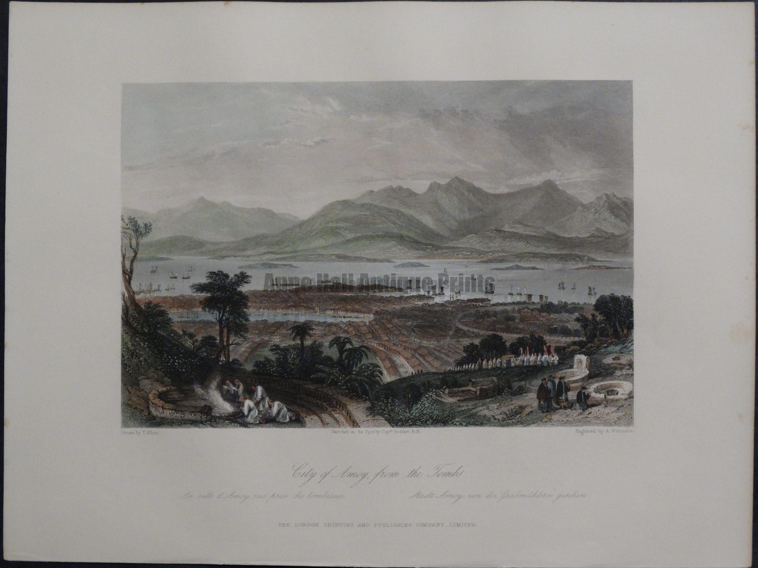 City of Amoy, from the Tombs, 1855. $135.