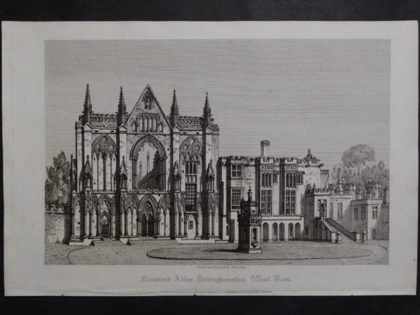 Newstead Abbey, 1817. $75.