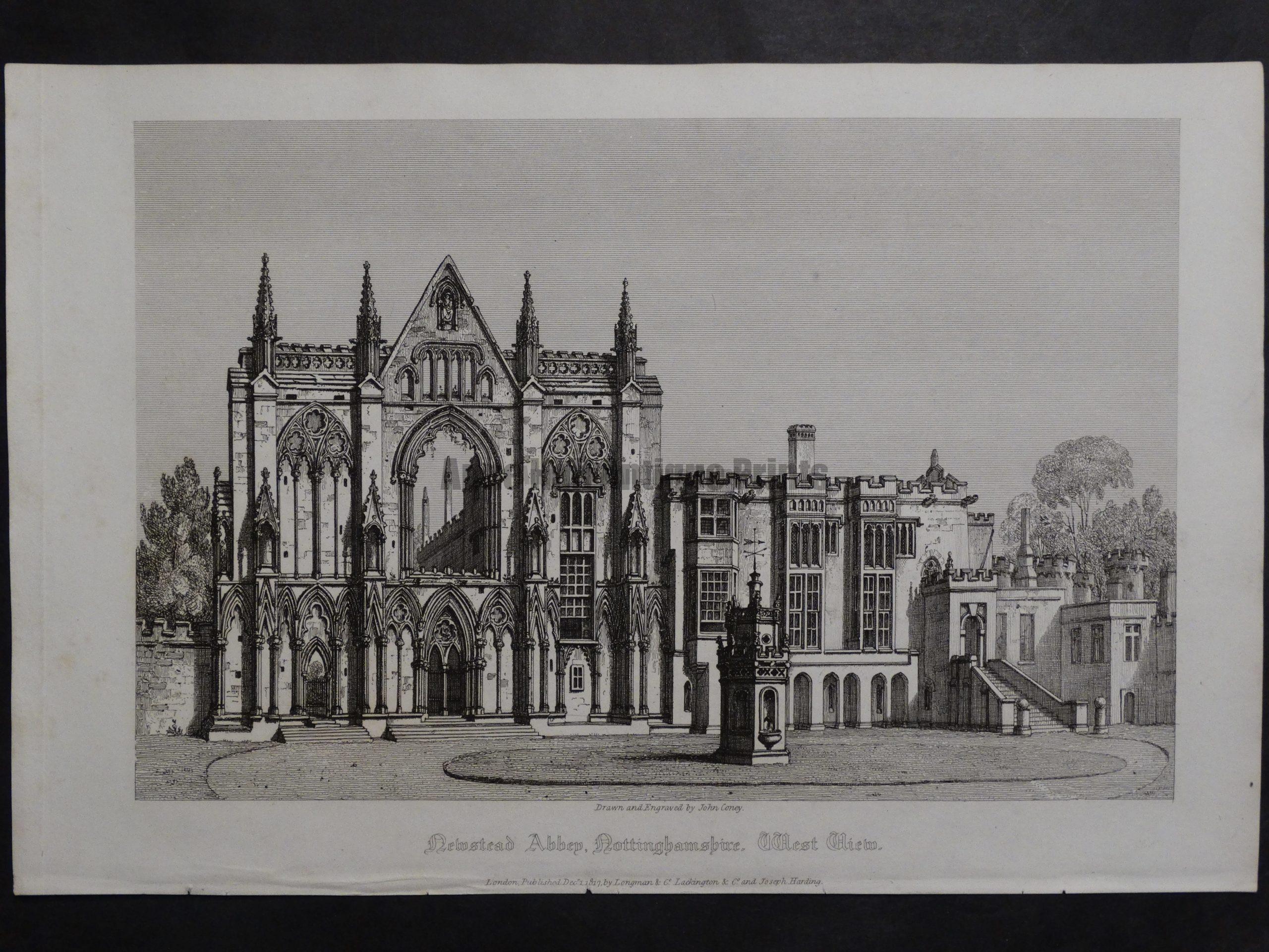 Newstead Abbey, 1817. $75.