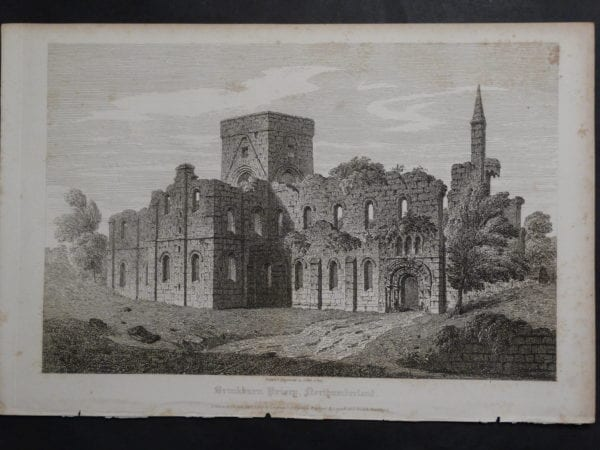 Drinkburn Priory, 1825. $75.