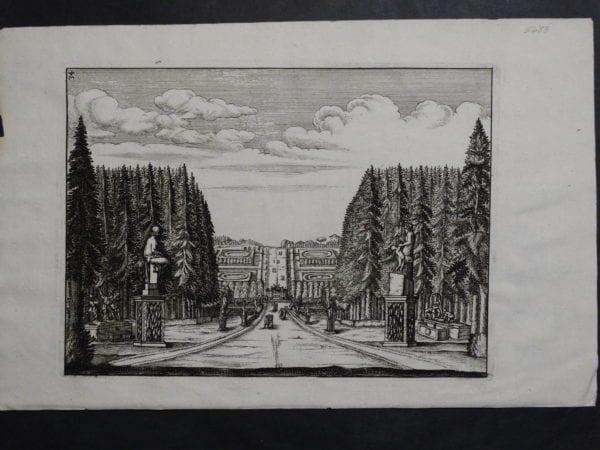 Italian Garden Print, c.1770(2). $75.