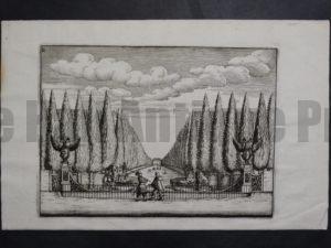 Italian Garden Print, c.1770. $75.