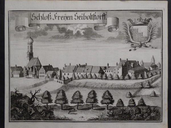 Werning Bavaria Rare Castle Engraving 1703(8). $300.