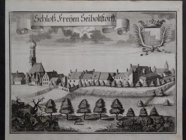 Werning Bavaria Rare Castle Engraving 1703(8). $300.
