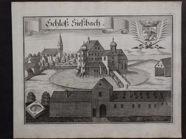 Werning Bavaria Rare Castle Engraving 1703(7). $300.