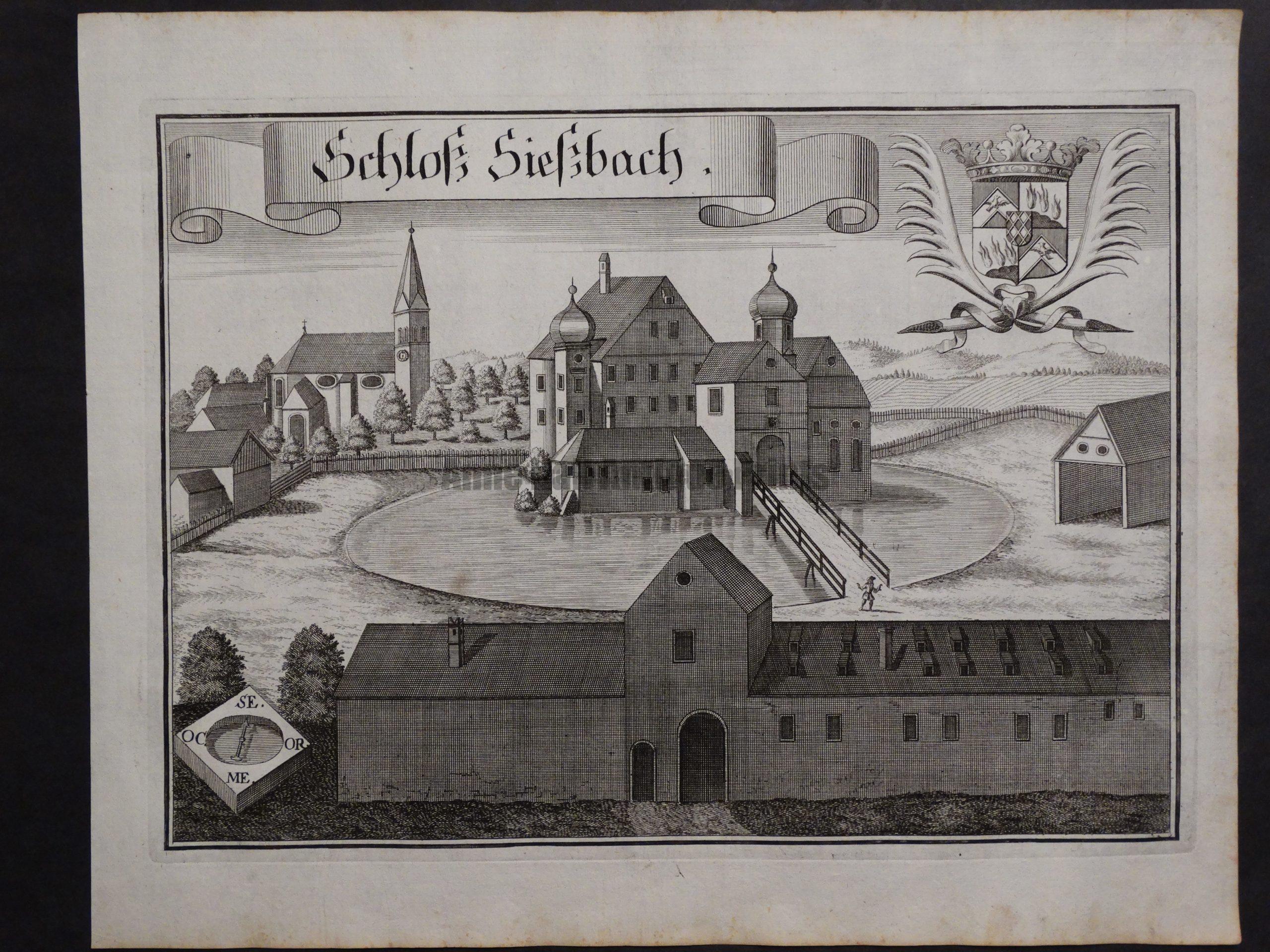 Werning Bavaria Rare Castle Engraving 1703(7). $300.