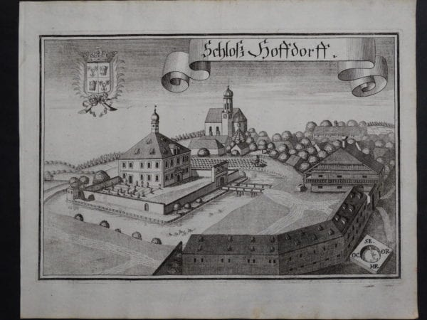 Werning Bavaria Rare Castle Engraving 1703(6). $300.