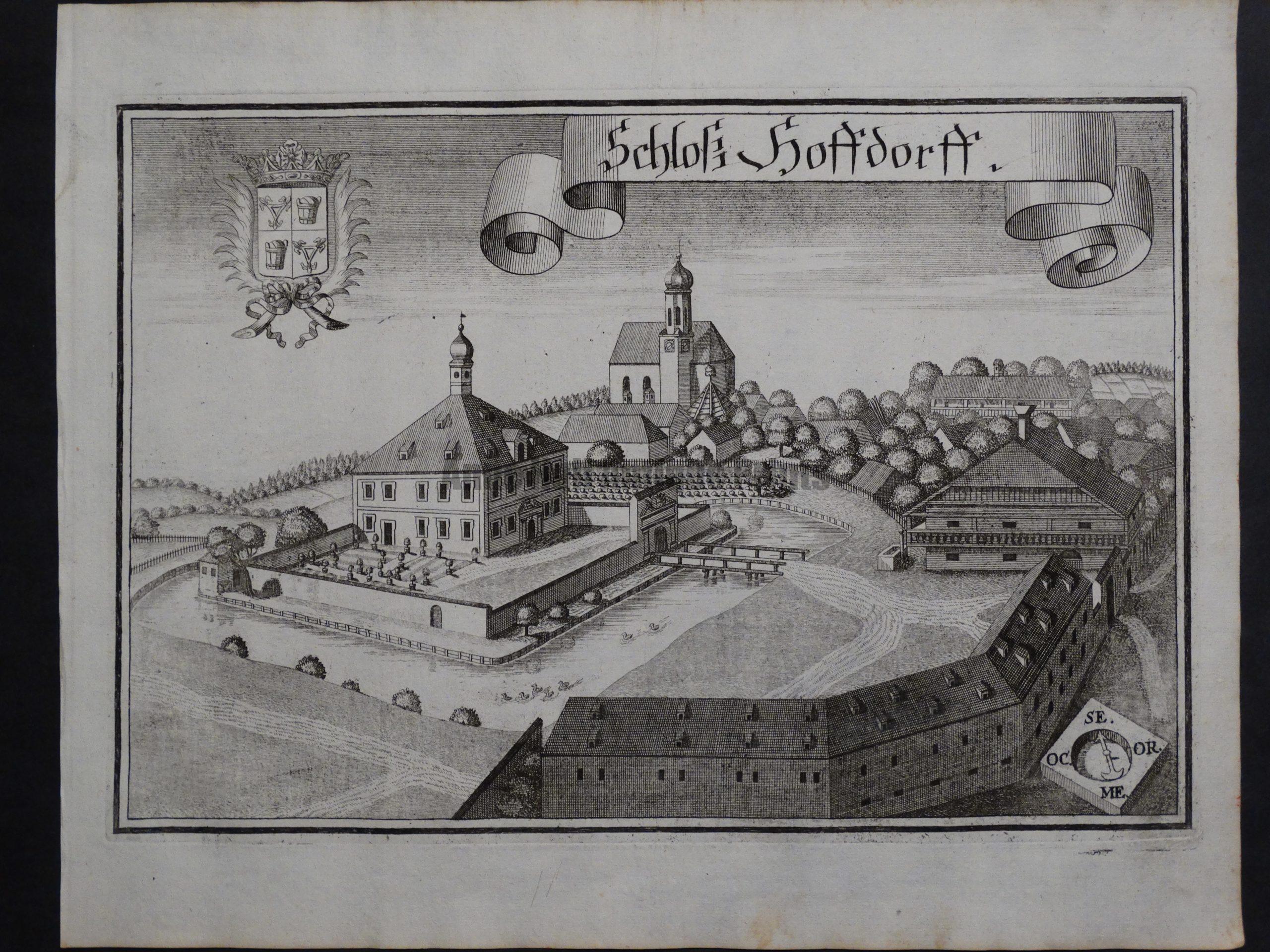 Werning Bavaria Rare Castle Engraving 1703(6). $300.