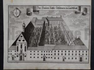 Werning Bavaria Rare Castle Engraving 1703(5). $300.