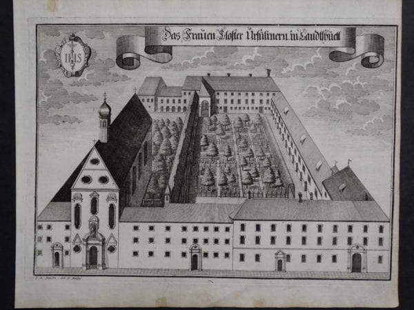 Werning Bavaria Rare Castle Engraving 1703(5). $300.