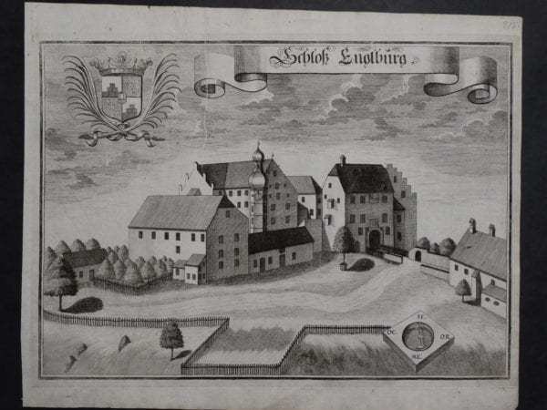 Werning Bavaria Rare Castle Engraving 1703(4). $300.