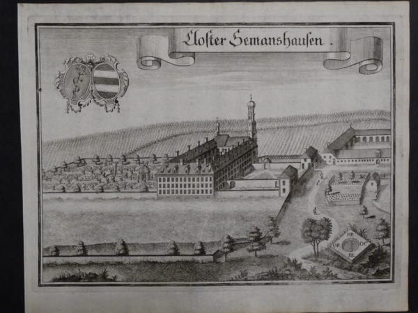 Werning Bavaria Rare Castle Engraving 1703(3). $300.