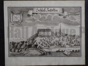 Werning Bavaria Rare Castle Engraving 1703(2). $300.