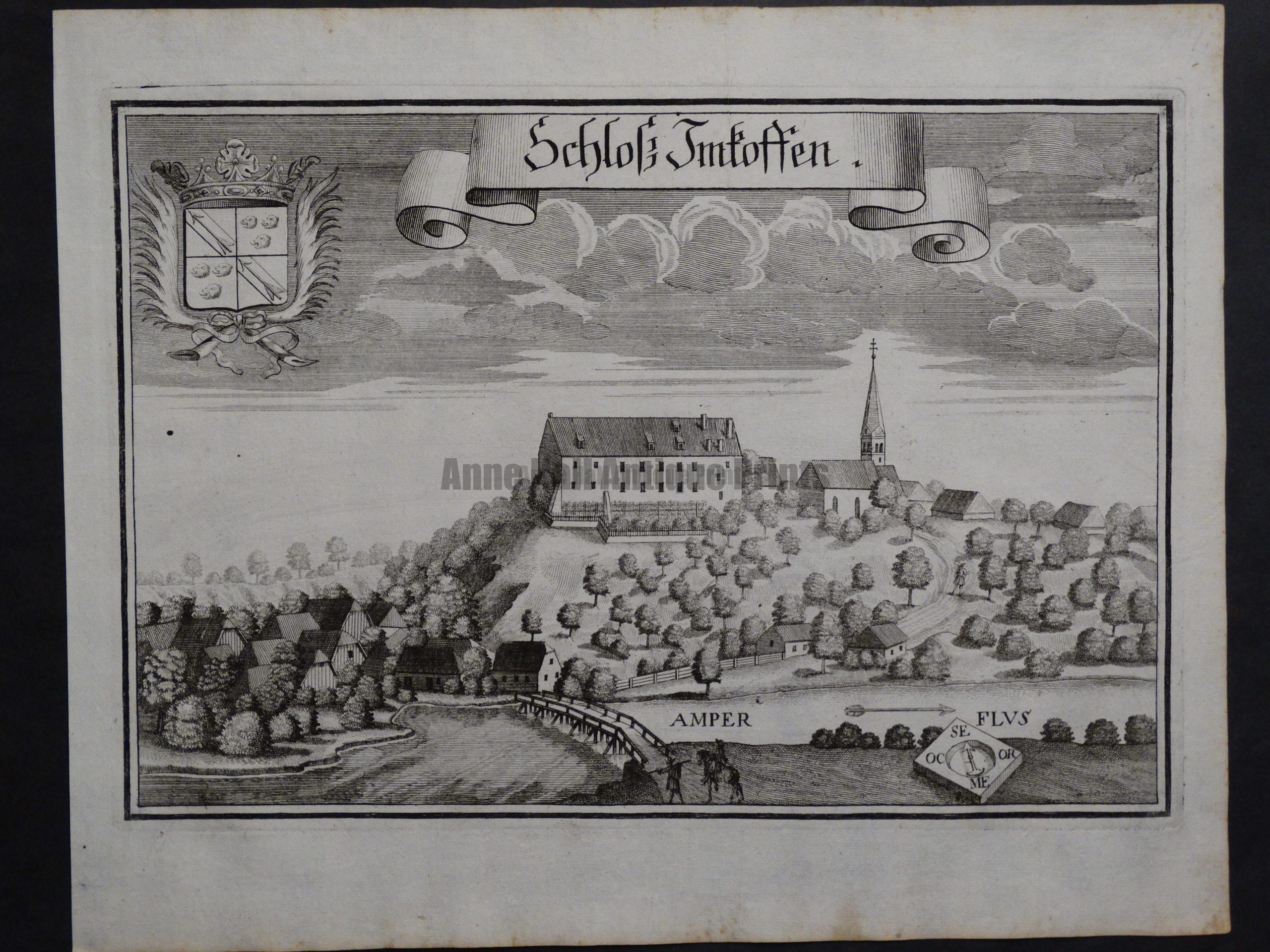 Werning Bavaria Rare Castle Engraving 1703(2). $300.