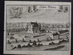 Werning Bavaria Rare Castle Engraving 1703(1)