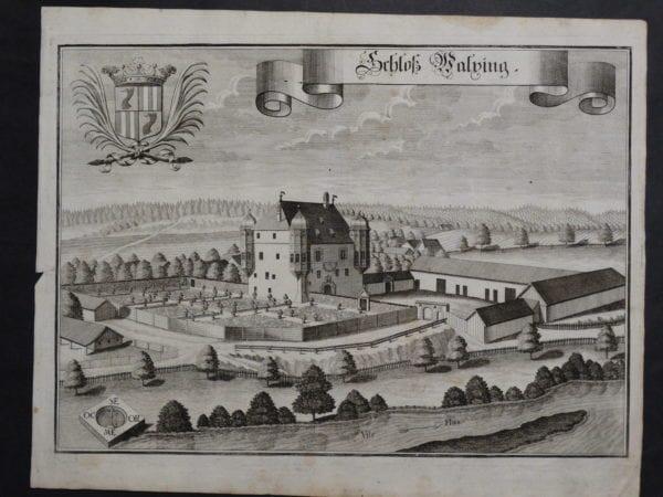 Werning Bavaria Rare Castle Engraving 1703(1)