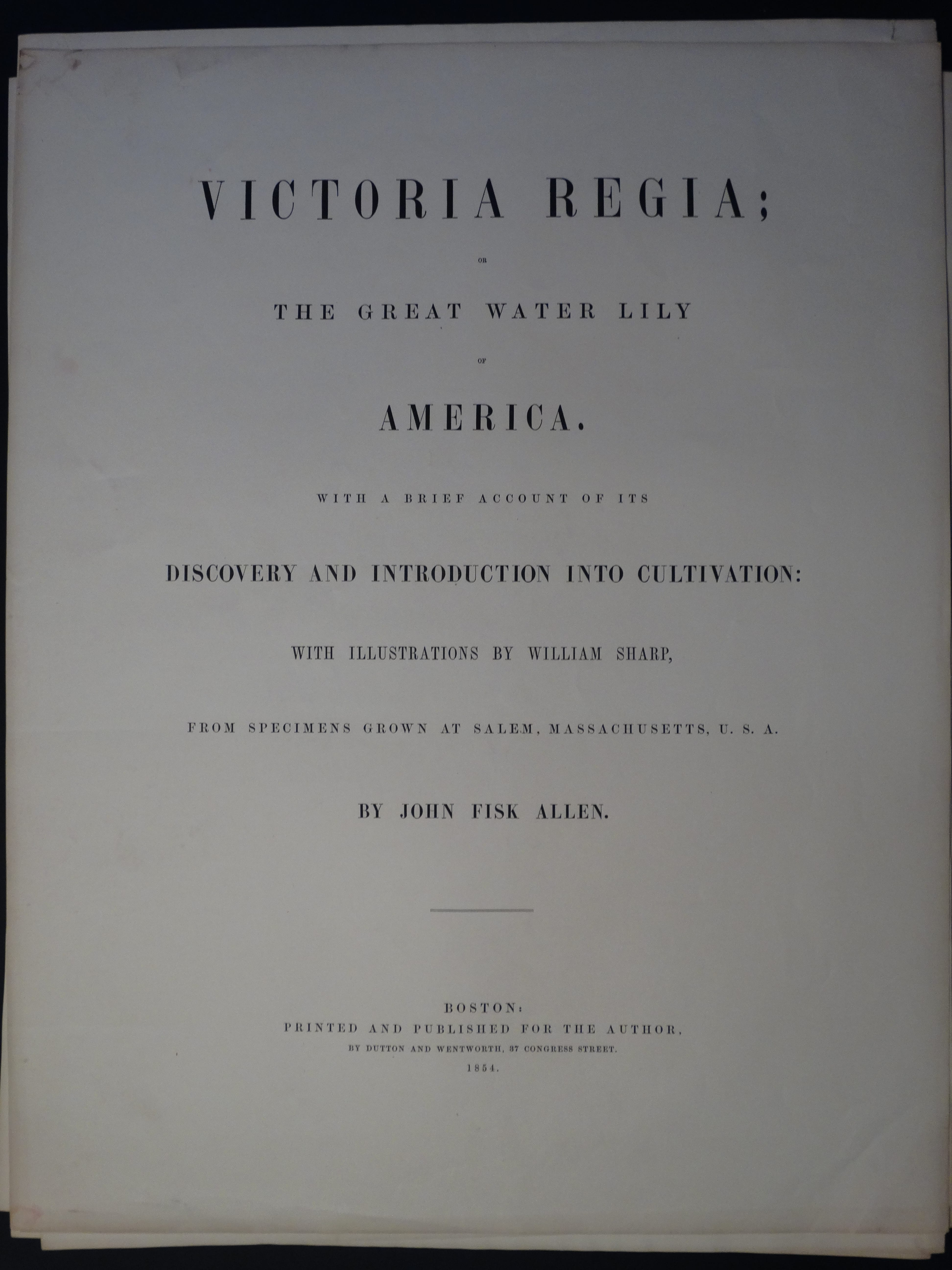 Title Page Victoria Regia The Great Water Lily of America 1854