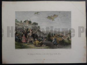 DSC02404 Kite Flying by T Allom 1855 engraving on rag with water colors. $150.