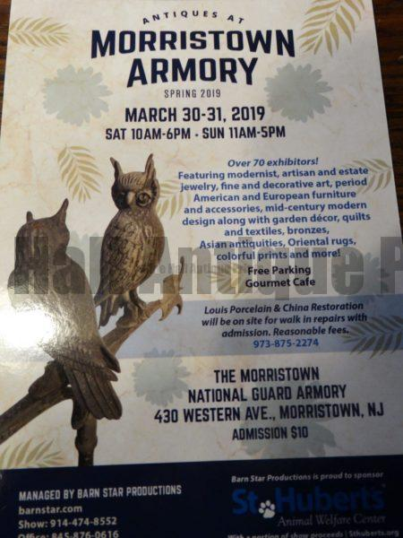 Antiques Show at Morristown Armory NJ