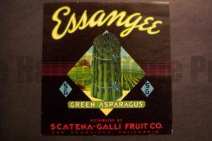 Essangee Asparagus, c.1930. $30.