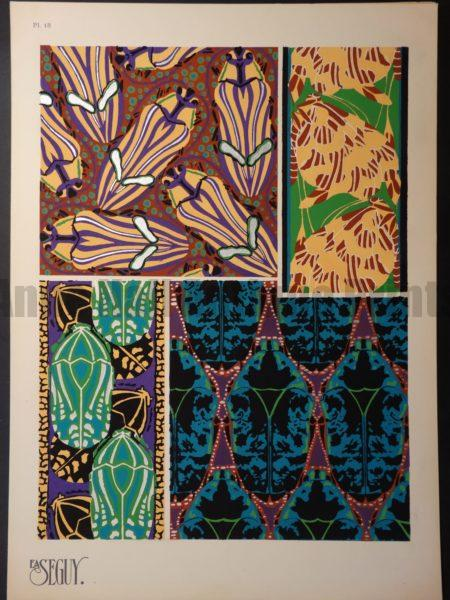 Eugene Seguy Original Pochoir Insectes 18