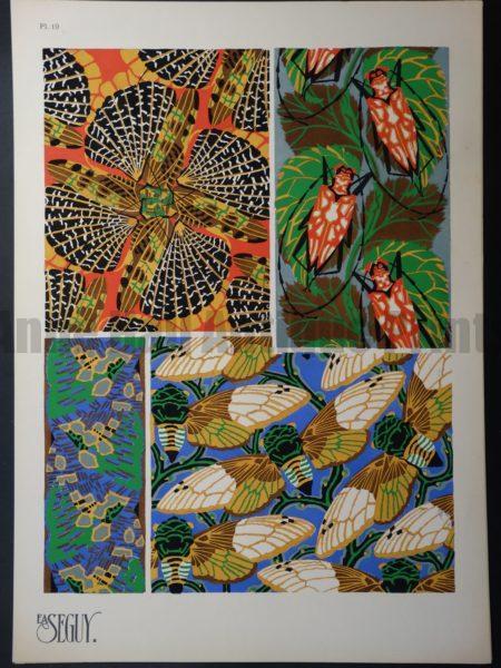 Eugene Seguy Pochoir Pattern Insectes 19