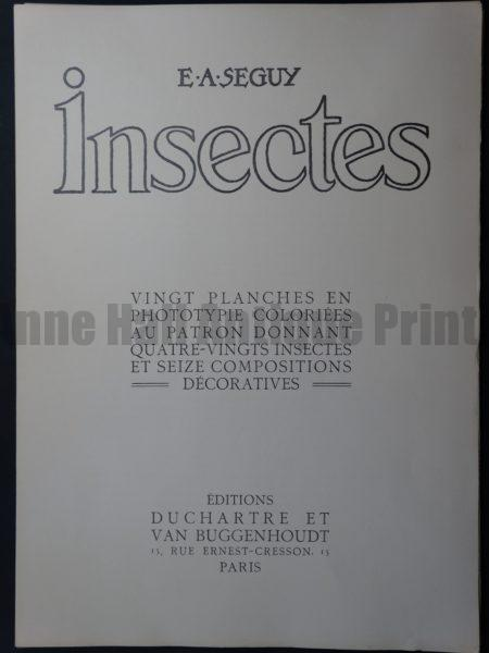 Eugene Seguy Insectes Title Page