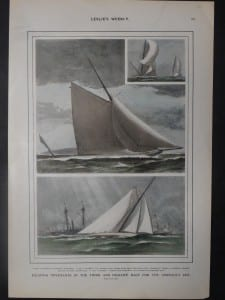 Exciting Movements in the Third and Decisive Race fire the America's Cup, November 4, 1899. $90.