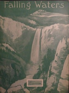Falling Waters or Waters of Yosemite by Traux, 1930. $30.