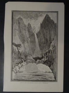 Falls of the Yellowstone-(Geysers of the Yellowstone), c.1890. $20.