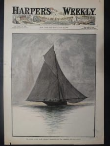 """The British Cutter Yacht """"Genesta,"""" Challenger for the """"America's"""" Cup, June 13, 1885. $85."""