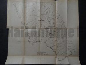Glacier National Park Map, 1910. $50.
