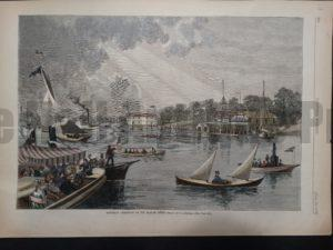 Saturday Afternoon on the Harlem River, June 28, 1879. $100.