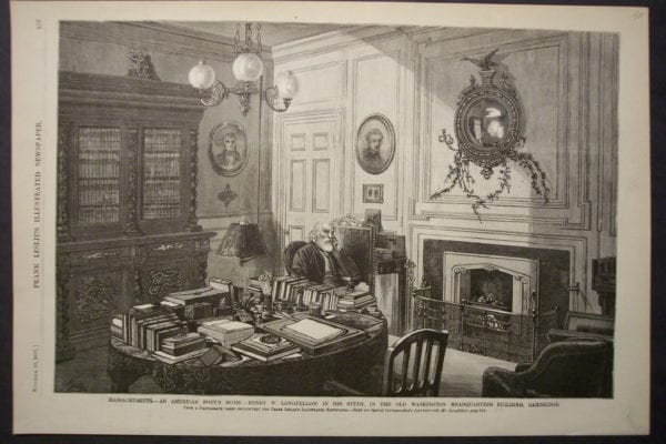 An American Poet's Home-Henry W. Longfellow, November 10, 1877. $40.