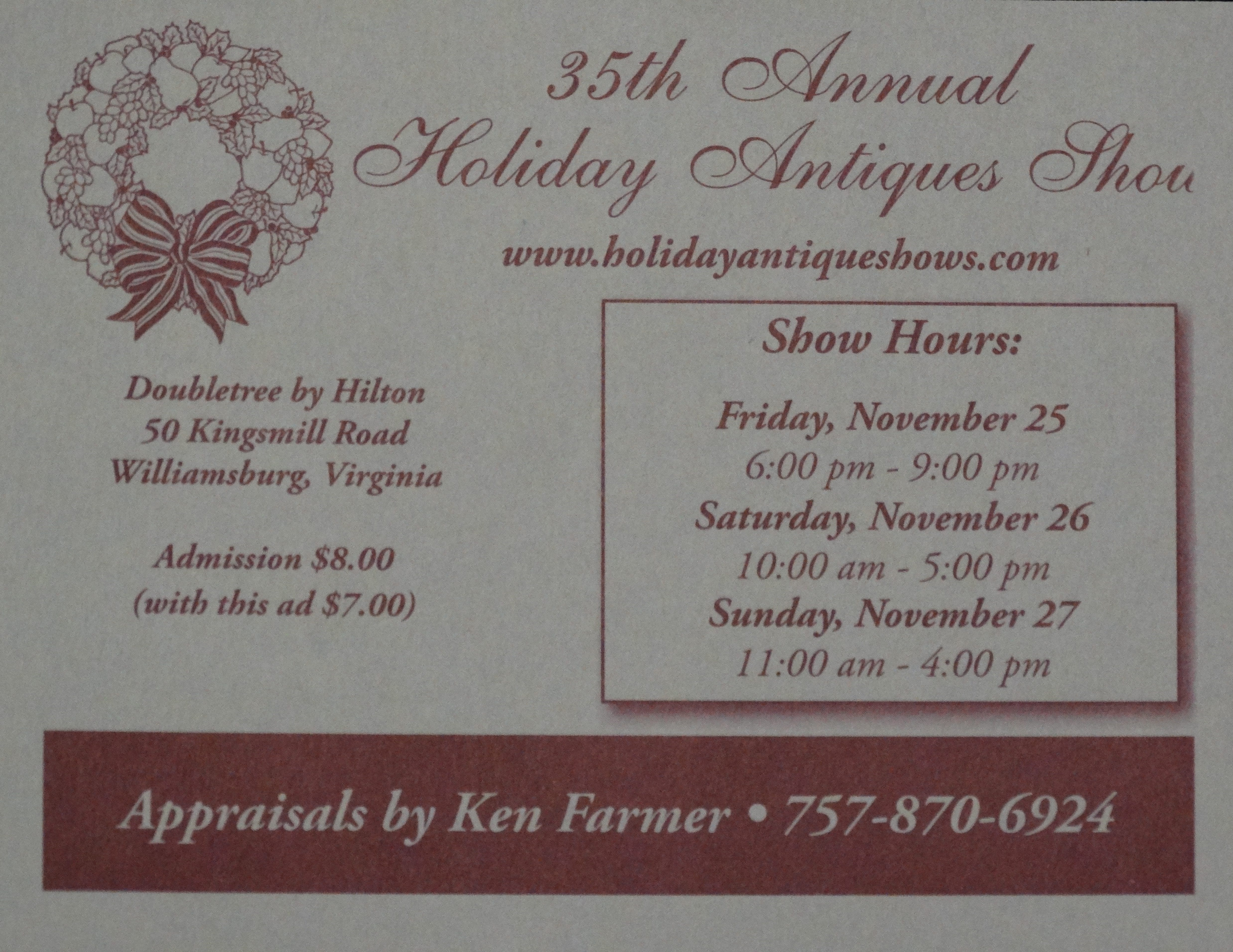 Holiday Antiques Show