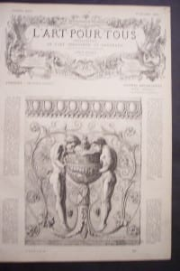 L'art Pour Tous, 1862. $45