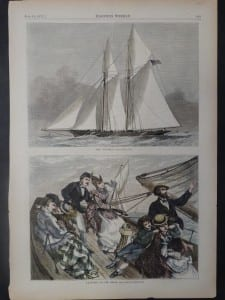 """The """"Livonia"""" and Yachting-At the Helm, July 15, 1871. $65."""
