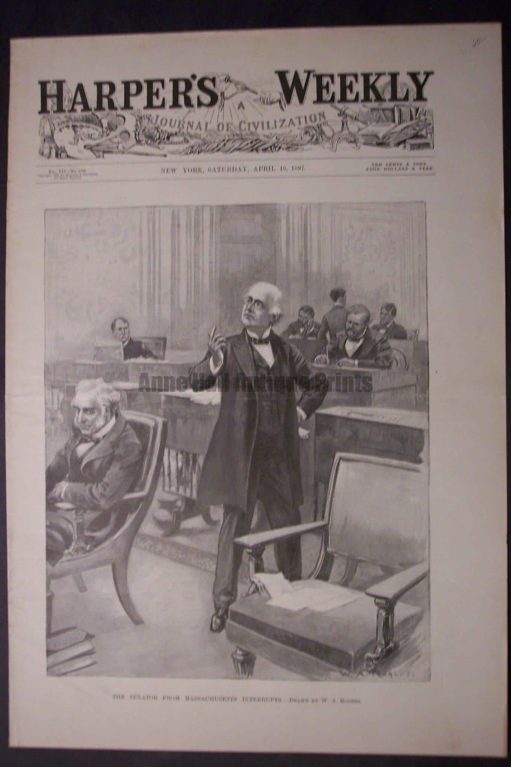 The Senator from Massachusetts Interrupts, April 10, 1897. $60.