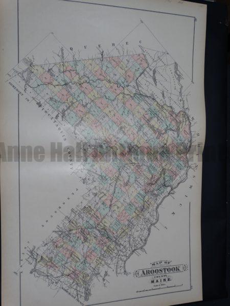 Map of Aroostook County Maine.