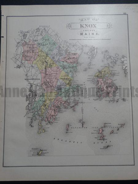 Map of Knox County Maine