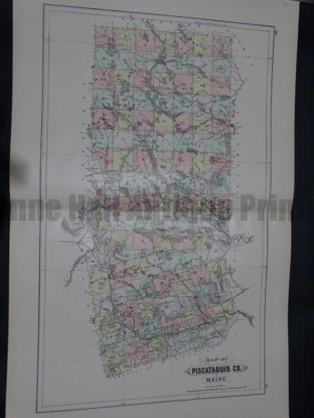 Map of Piscataquis Co Maine