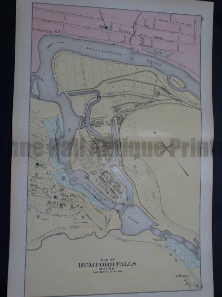 Map of Rumford Falls